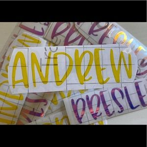 Personalized School Supply Labels 5pc
